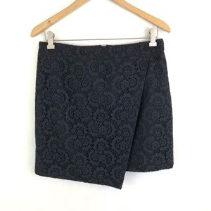 Madewell Lace Crossover Mini Skirt 8
